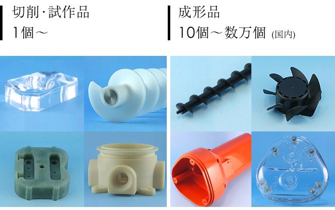 プラスチック加工の小ロット対応